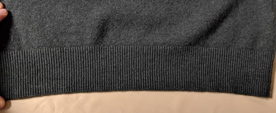 エマールを使って洗濯したセーターの画像