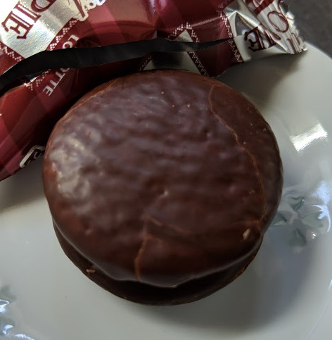 ロッテ プチチョコパイ 濃い京抹茶の中身の画像