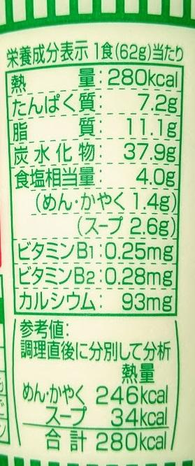 日清 おだしがおいしいカップヌードル 鶏南蛮そばの原材料名/アレルギー/カロリー/栄養成分表示の画像