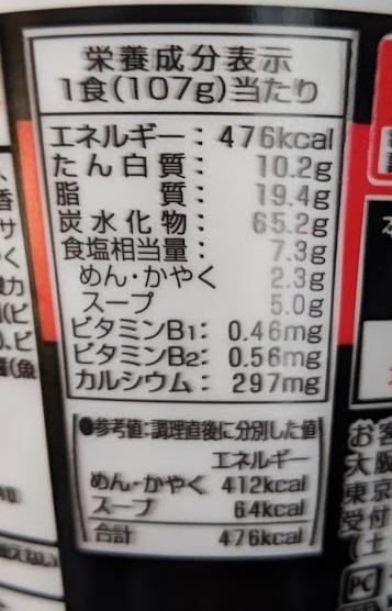 エースコック スーパーカップ1.5倍 豚キムチラーメン 超やみつきブタキムオイル仕上げの原材料名/アレルギー/カロリー/栄養成分表示の画像