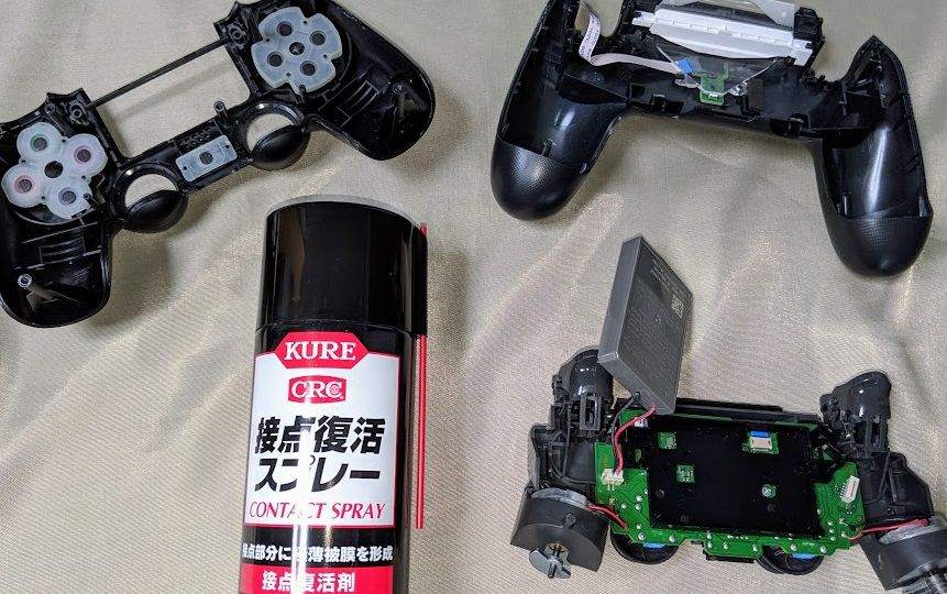 PS4コントローラー 修理 接点復活剤