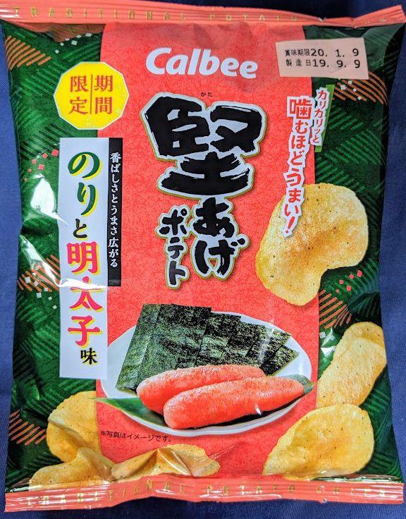 堅あげポテト(のりと明太子味)