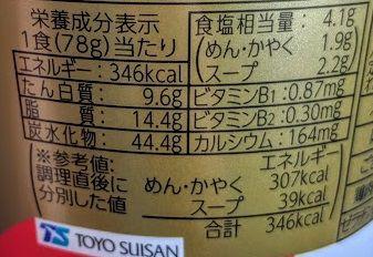 MARUCHAN QTTA(クッタ)しょうゆの原材料名/アレルギー/カロリー/栄養成分表示の画像