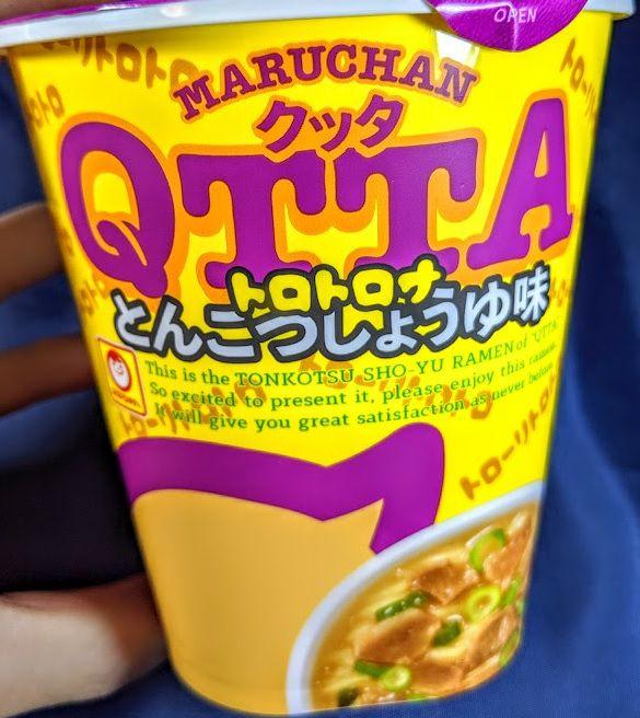 MARUCHAN QTTA(クッタ)とんこつしょうゆ味