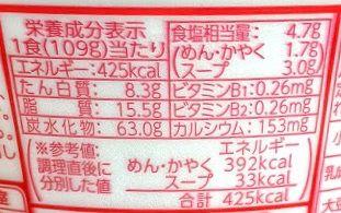 マルチャン白い力もちうどんの原材料名/アレルギー/カロリー/栄養成分表示の画像
