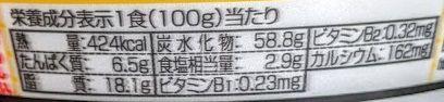 日清のどん兵衛(汁なし牛すき風うどん)の原材料名/アレルギー/カロリー/栄養成分表示の画像