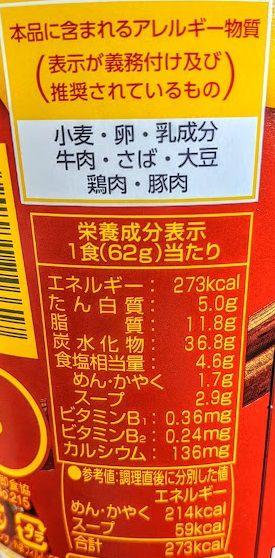 たらっととろりたまご風すき焼き味うどんの原材料名/アレルギー/カロリー/栄養成分表示の画像