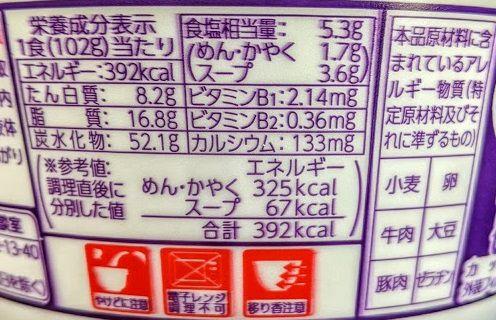 マルちゃんあつあつ牛すきうどんの原材料名/アレルギー/カロリー/栄養成分表示の画像
