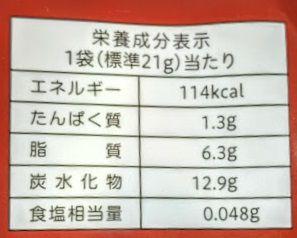 Withチョコカントリーマアムチップス(大人のカカオ)のカロリー/栄養成分表示の画像