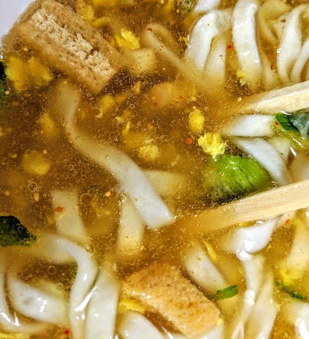 日清のどん兵衛(恋七味付き京風あんかけうどん)のスープの画像
